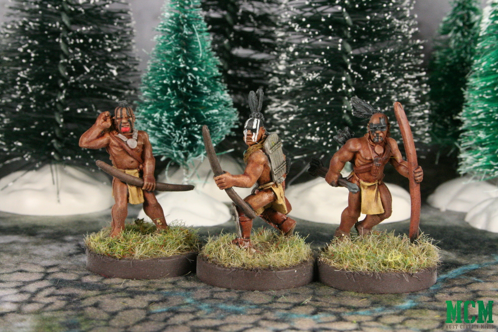 Native American Archers Miniatures in 28mm - Flint and Feather