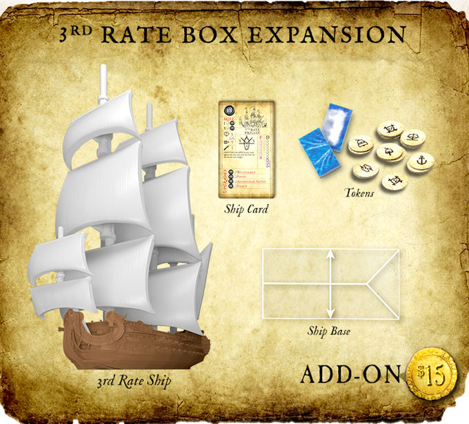 3rd Rate Ship Miniature 1/600