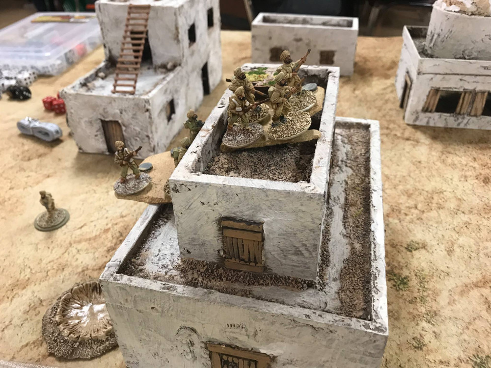 North Africa 28mm Chain of Command Battle in the desert