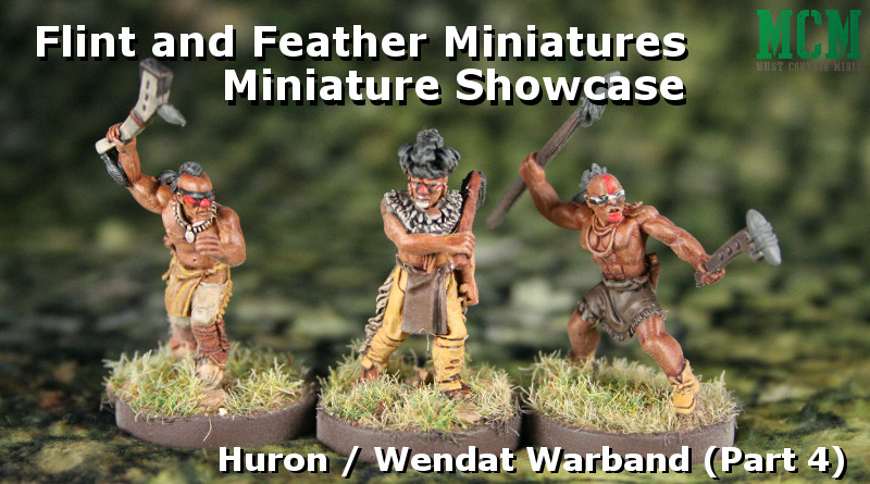 Melee Warriors of the Huron Tribes - Native American Miniatures 28mm Gaming