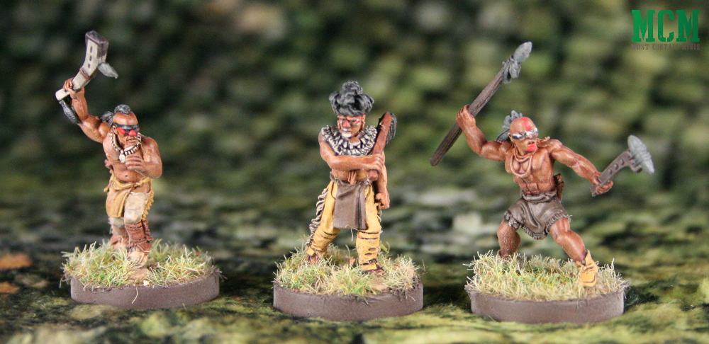 Three Native American Miniatures - 28mm Indian Warriors