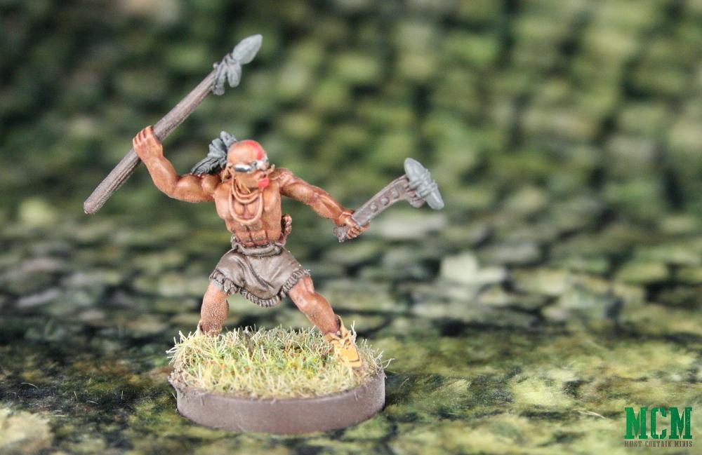 Spear Warrior - Native American Huron Wendat melee warrior