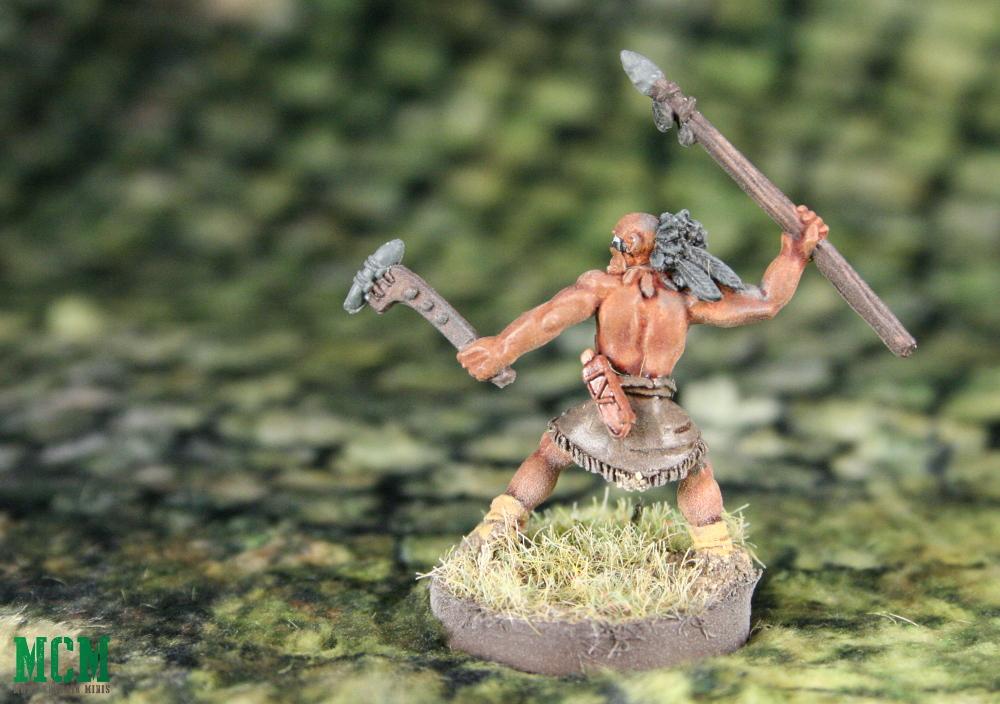 Huron Wendat Spear-man warrior