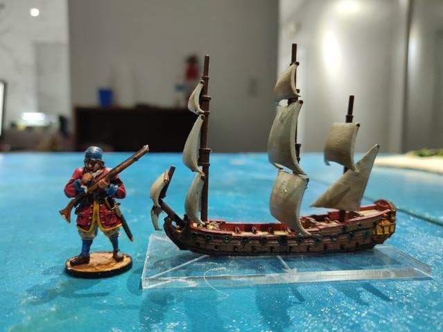 How big are Oak & Iron Ships?