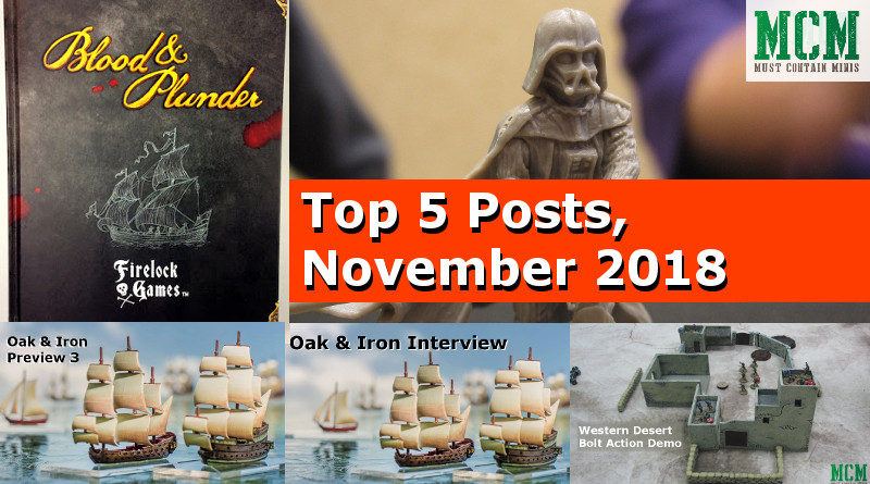 Top 5 posts on Must Contain Minis for November 2018 MCM