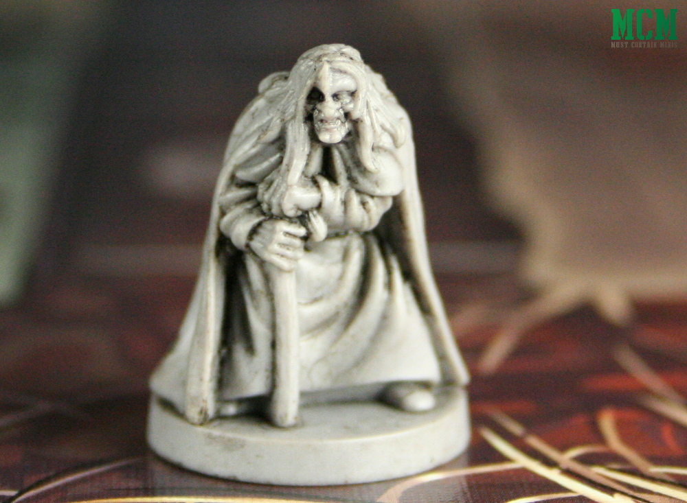 Miniature of Gretchen the Old Hage Mage in Wildlands the Board Game