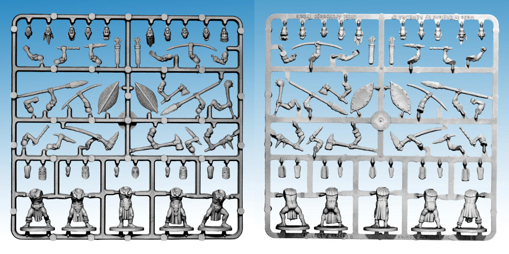 Frostgrave Ghost Archipelago Sprues for Tribals