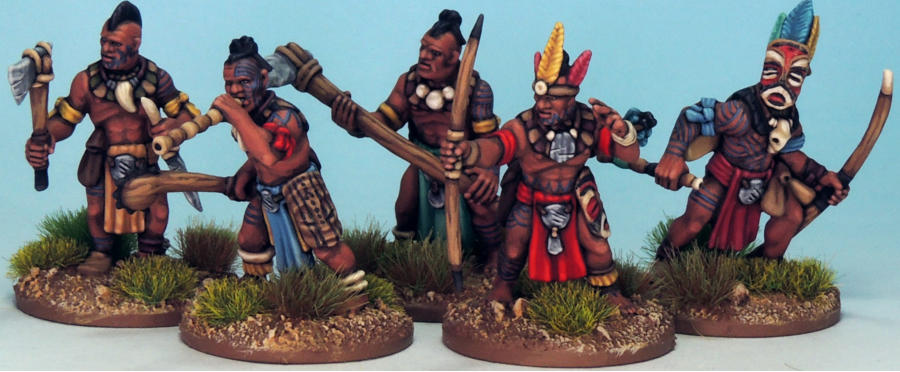 Painted Tribal Miniatures for Frostgrave