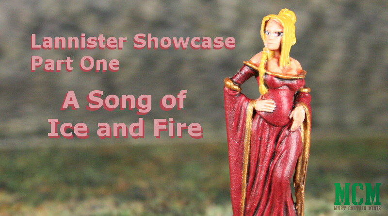 Showcase of painted Lannister Miniatures from CMON's A Song of Ice and Fire