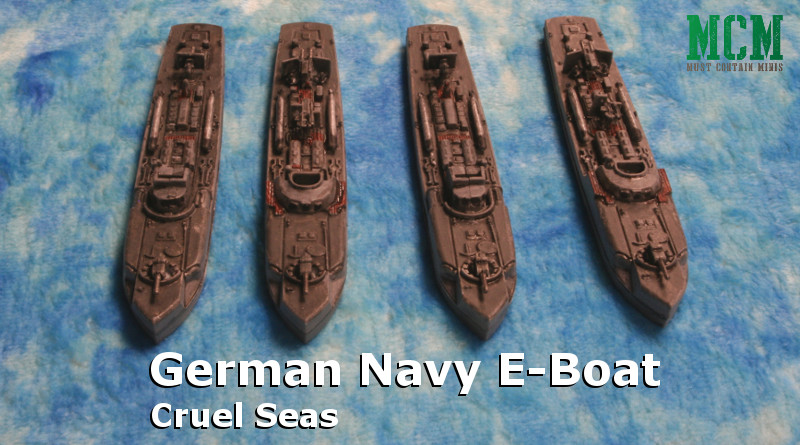 Painted E-boat for Cruel Seas by Warlord Games