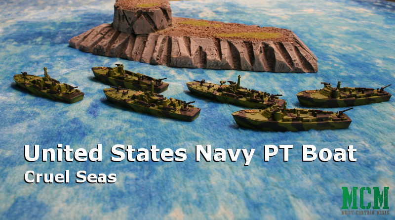 Cruel Seas Painted US Navy PT Boat Flotilla Miniatures by Warlord Games