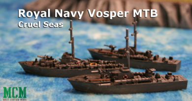 Vosper MTB Miniature for Cruel Seas by Warlord Games