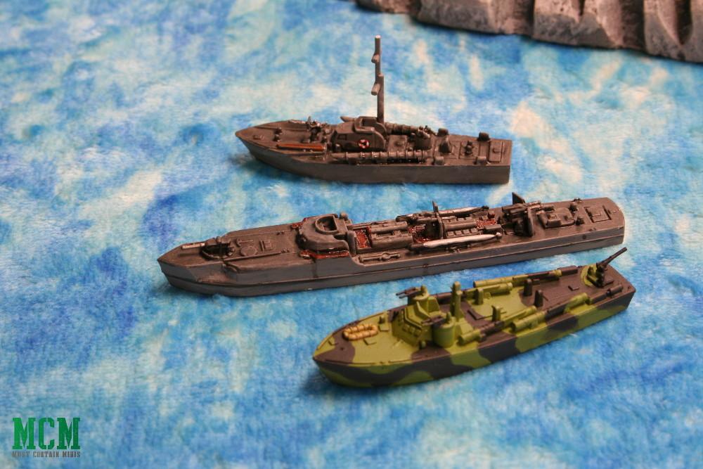 Size Comparison Cruel Seas - Vosper MTB to E-Boat to PT Boat