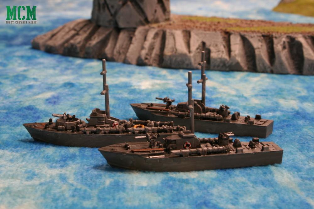 Cruel Seas painted British Vosper MTB Flotilla