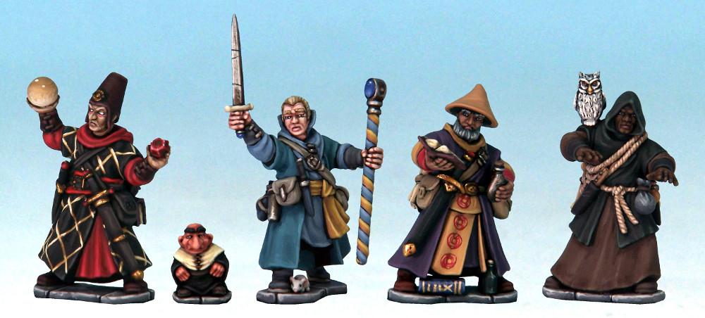 Frostgrave Plastic Wizards Painted and Made