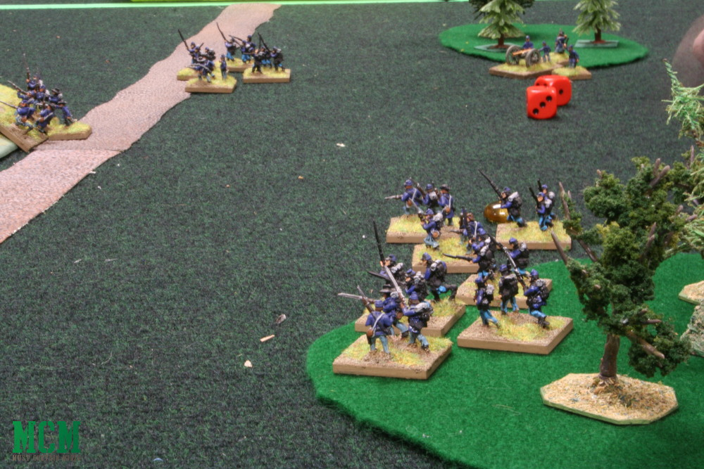 Union Soldiers in a 15mm Civil War Skirmish Battle