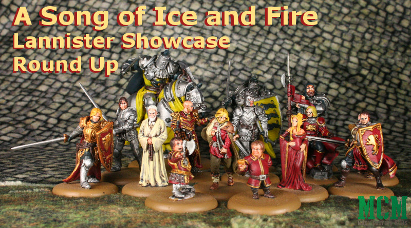 Painted Lannister Miniatures from a Song of Ice and Fire - article round up
