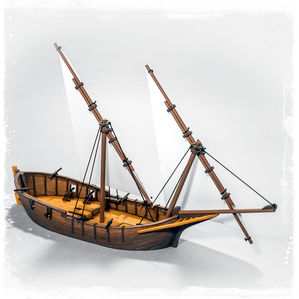 Tartana 32mm miniature terrain ship for Blood & Plunder