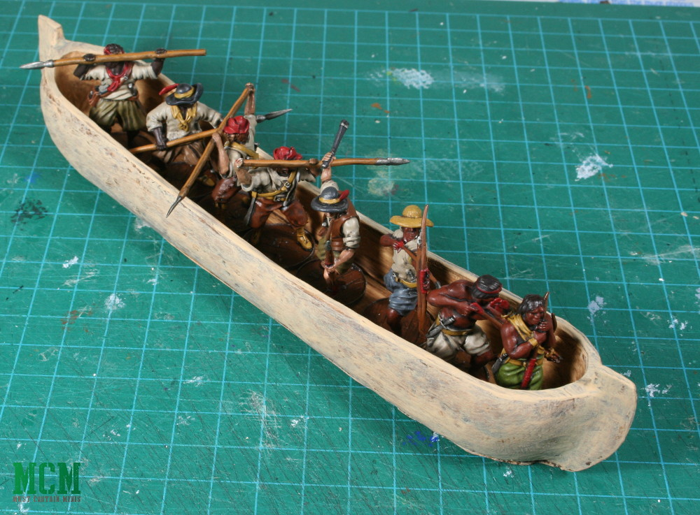 A Loaded Canoa for Blood and Plunder can hold 8 miniatures
