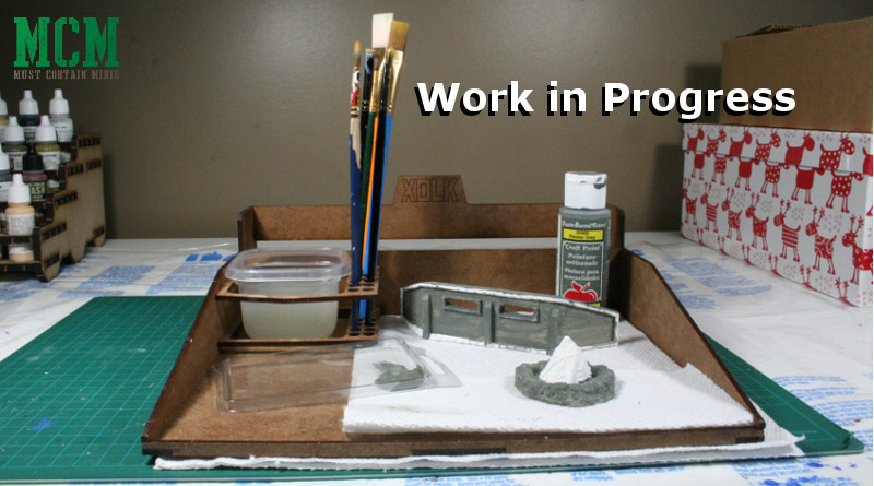 28mm Fire and Steel Barricade terrain painting work in progress