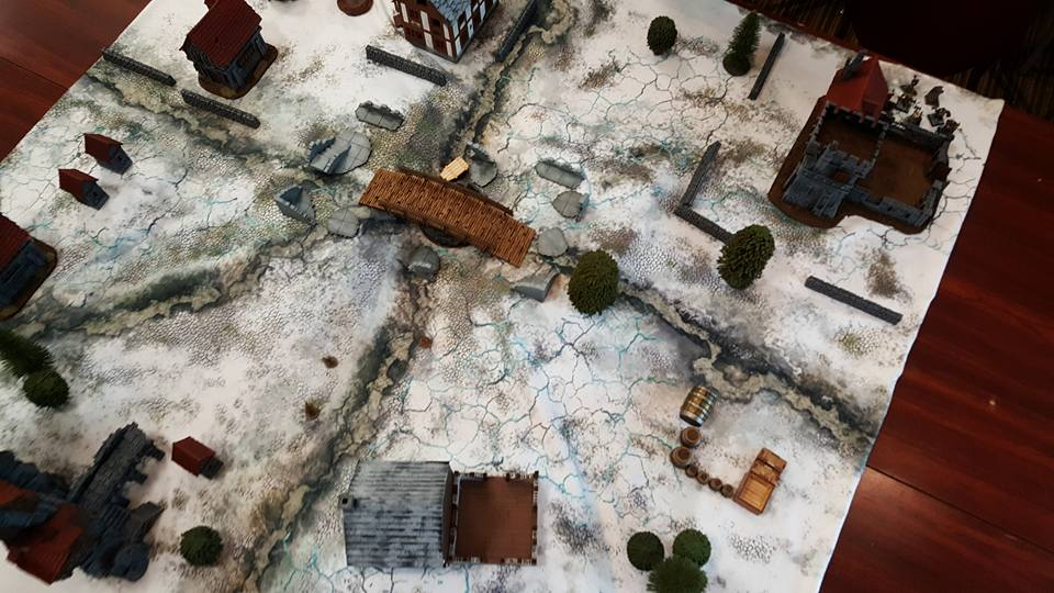 Frostgrave Participation / Demo Game Table at Hotlead 2017