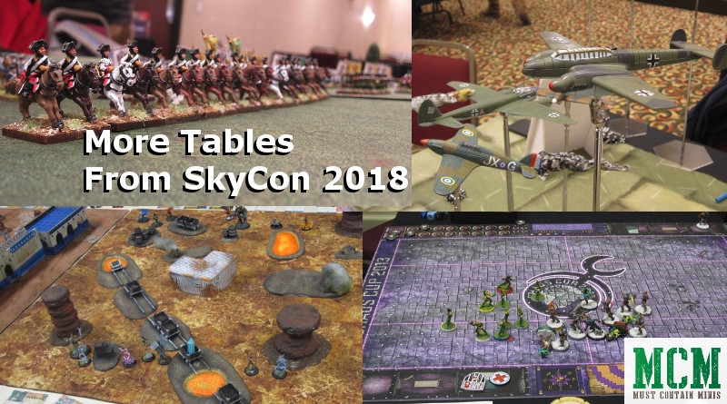 SkyCon Kitchener / Waterloo Gaming Convention Miniature Wargame Tables