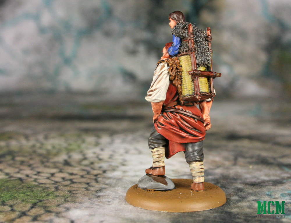 Bran and Hodor Miniature - Game of Thrones Painted