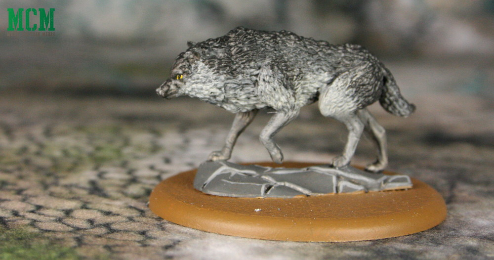 Summer Miniature Dire Wolf by CMON