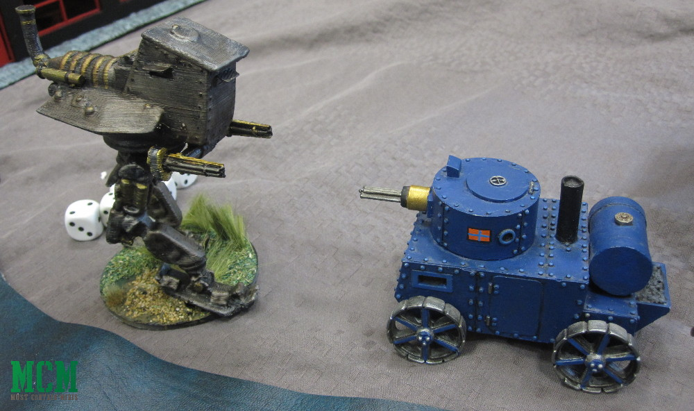 Steam Punk Walker vs Steam Punk Tank 28mm