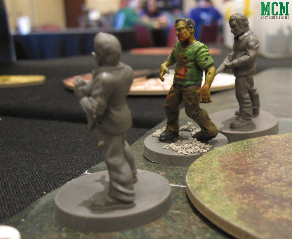 Allen and Donna pairing up in The Walking Dead Miniatures Game by Mantic Games