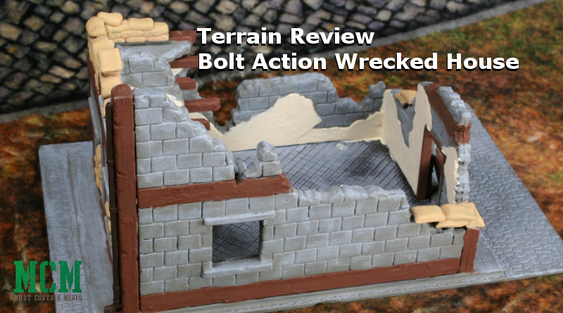 Wrecked House Review 28mm terrain by Warlord Games for Bolt Action