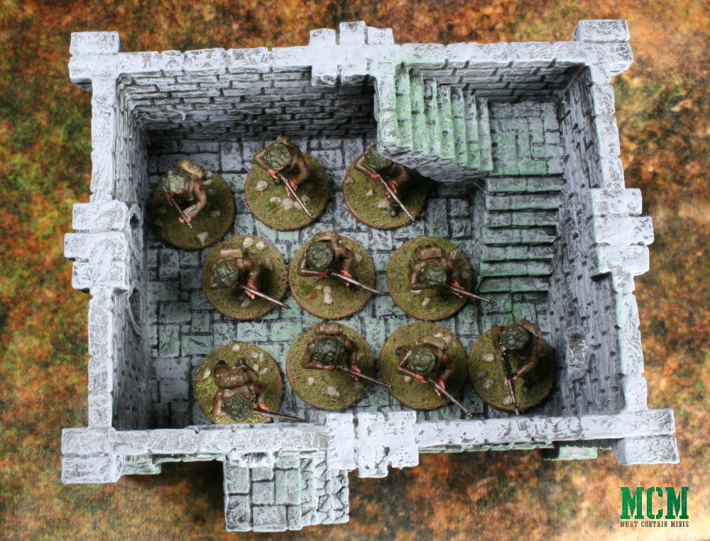 Bolt Action 3rd party terrain six squared studios ruined building Review