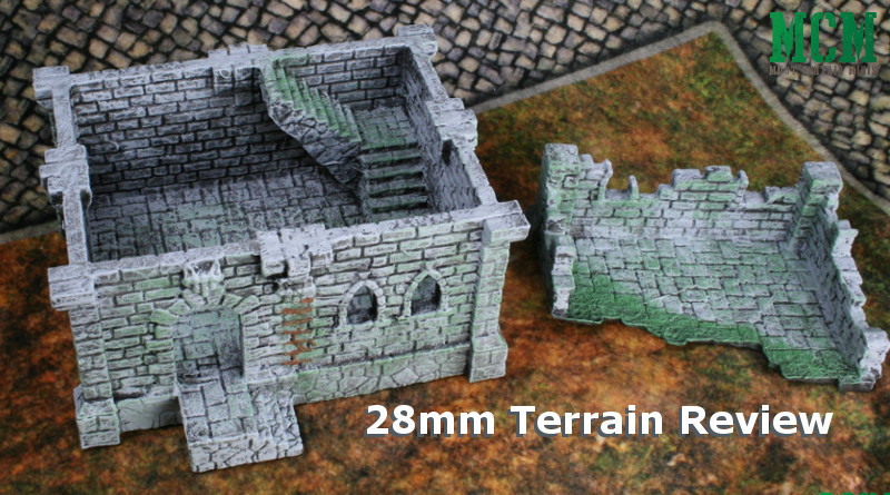 Ruined Building Review - 28mm to 32mm terrain