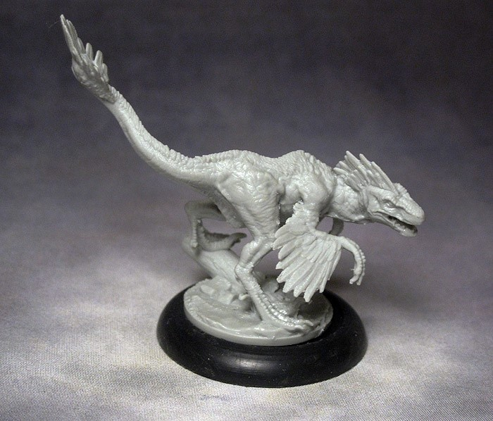 Miniature Dinosaur with feathers