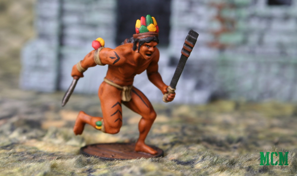 Running Native South American Warrior for Historical Wargaming running