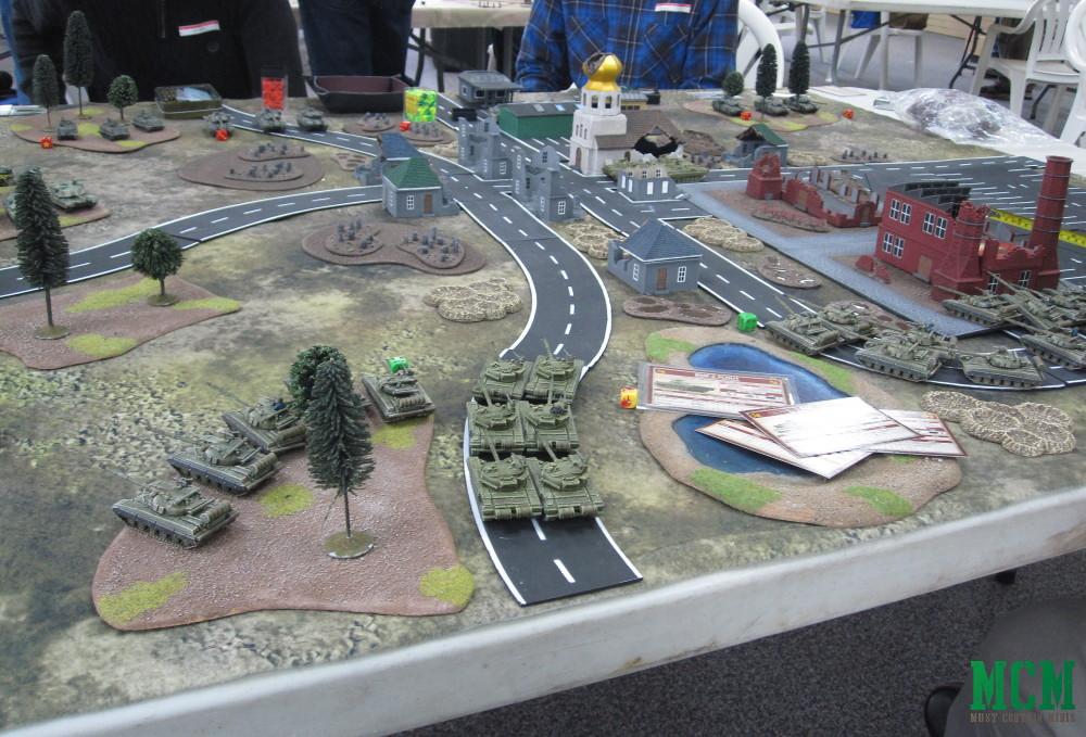 Team Yankee Battle Report - Parking lot of tanks