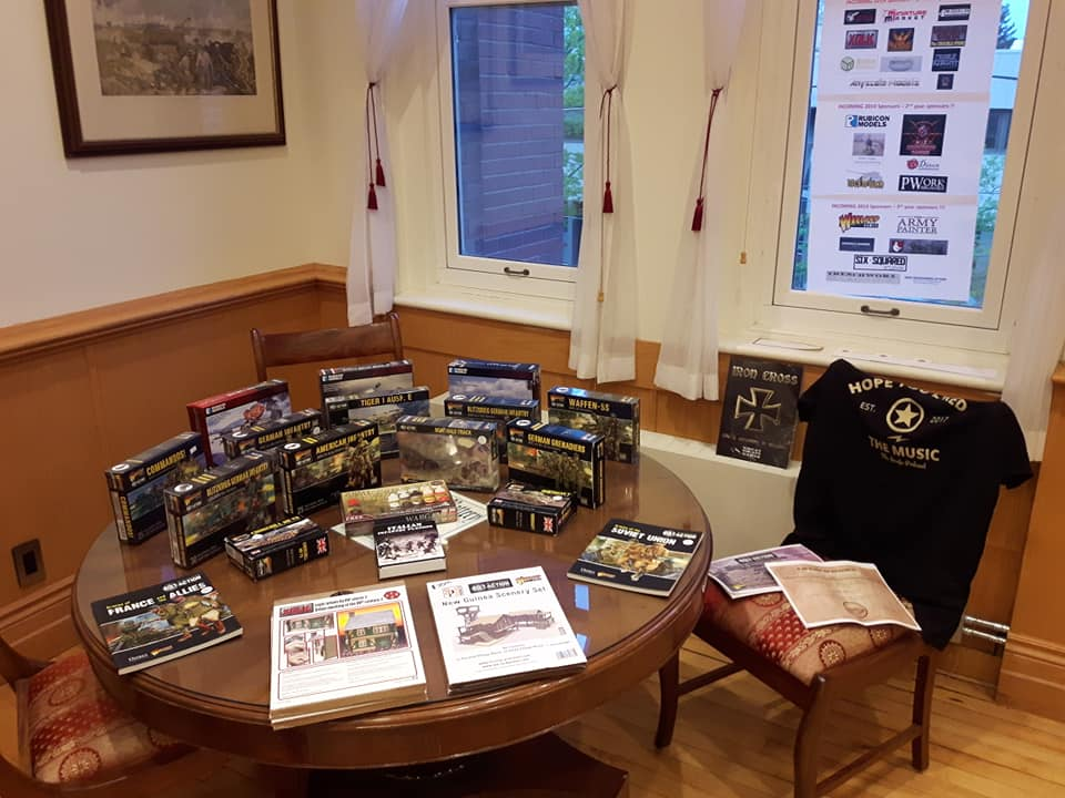 Bolt Action Tournament Prize Table