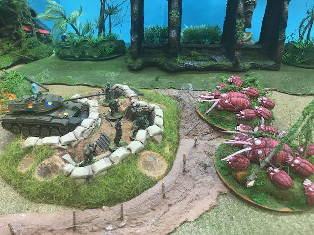 28mm miniature Bugs versus American Soldiers - Black Sun