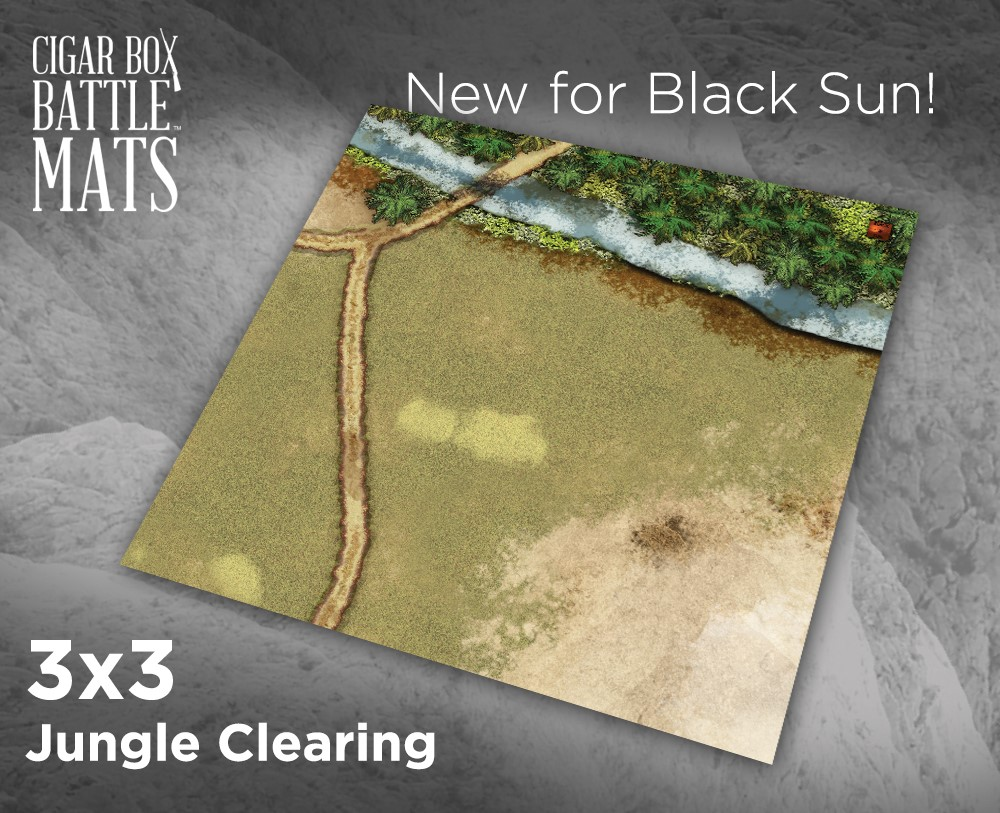 The Cigar Box Battle Mat Jungle Clearing for Black Sun