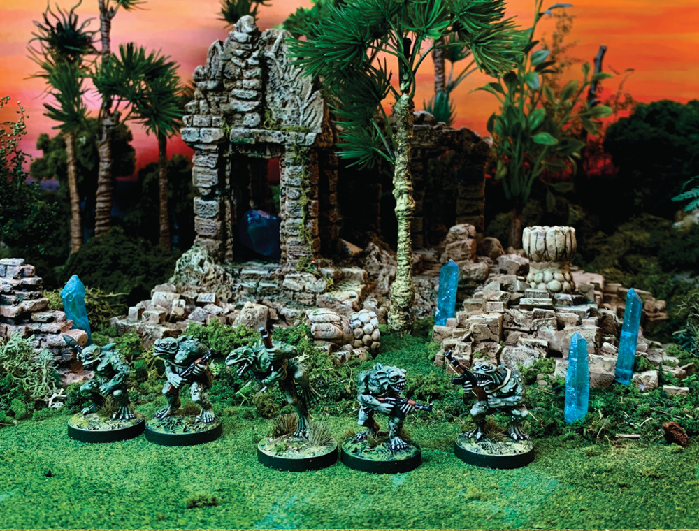 Deep Ones Horde in a Miniature Wargame - 28mm
