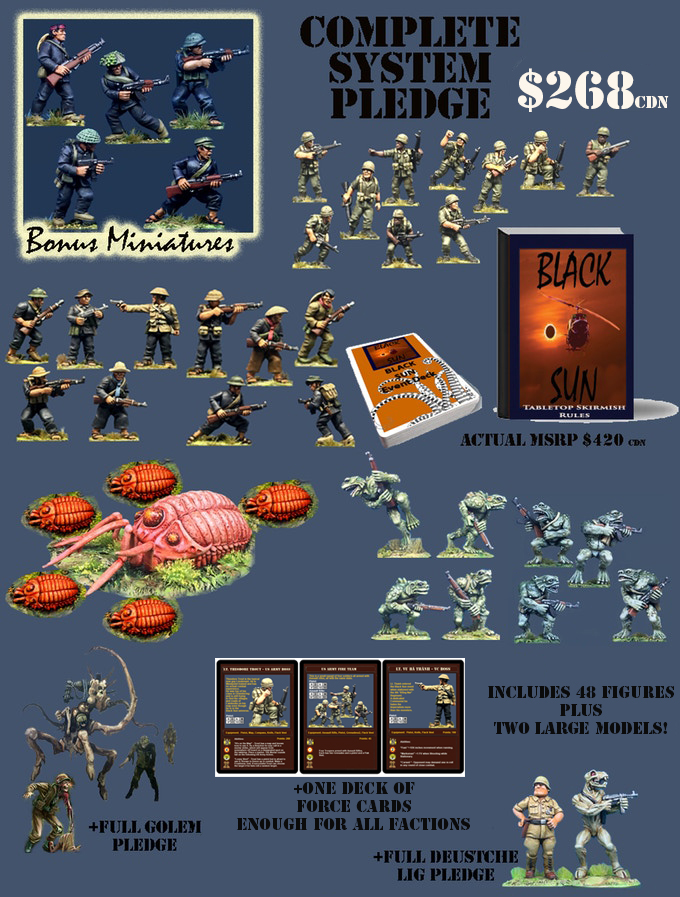 The Complete System Pledge for the Black Sun Miniatures Game Kickstarter