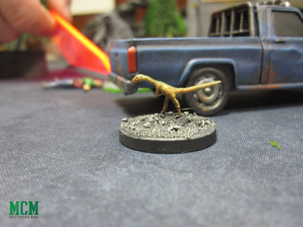 A Compsognathus Miniature Dinosaur 28mm