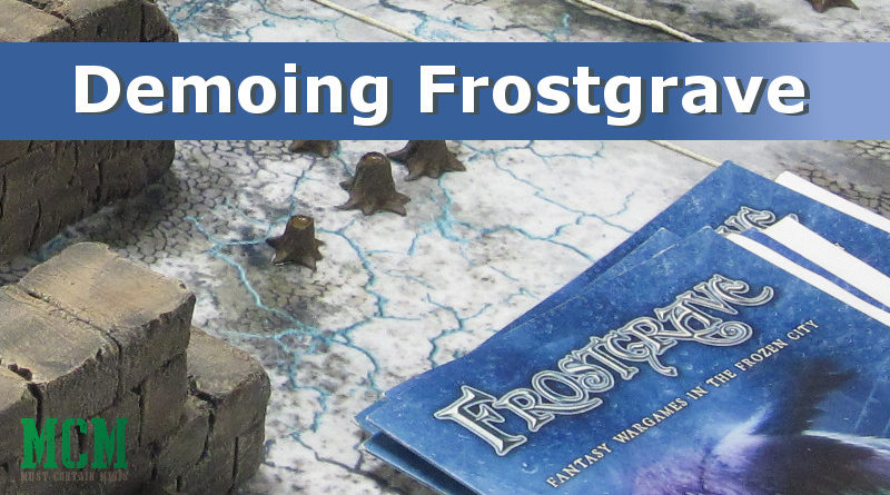 A discussion about demoing Frostgrave by Osprey Games at a convention