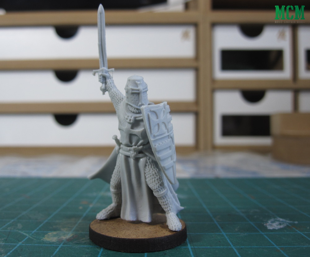 Foot Version of the Templar Grandmaster Miniature by Fireforge Games