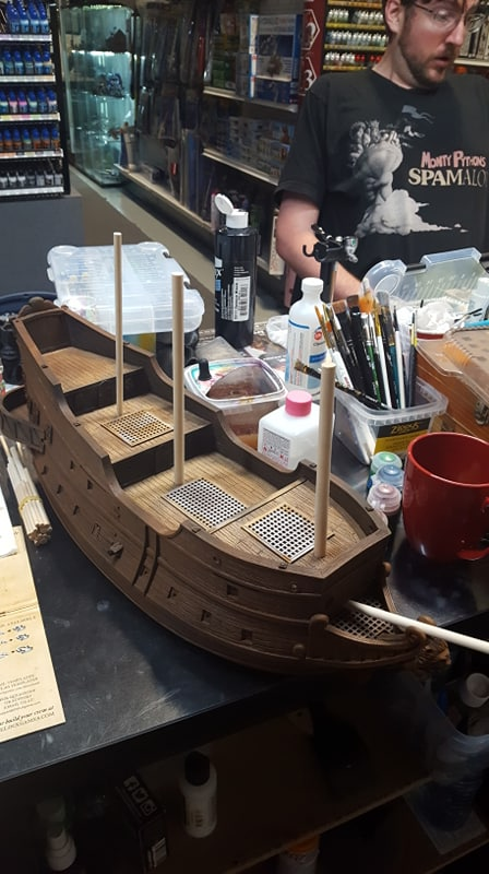 Blood and Plunder Galleon Painted by Jeremy Cada of Forbes Hobbies