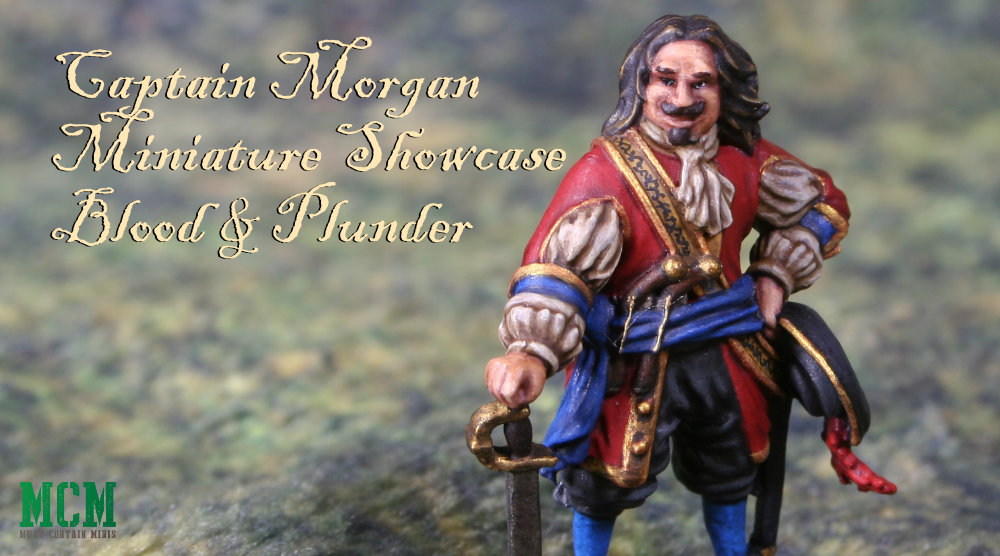 Painted Captain Morgan Miniature