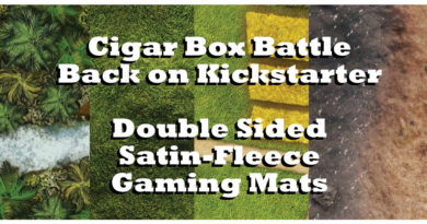 Cigar Box Battle Mats Double Sided Satin Fleece Kickstarter