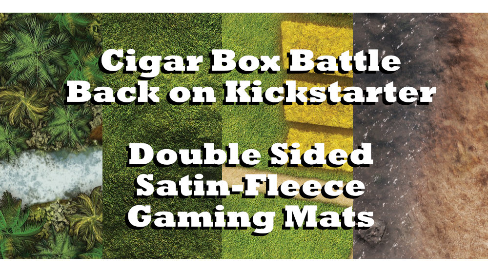 Cigar Box Battle Mats – Double Sided Satin Fleece Kickstarter