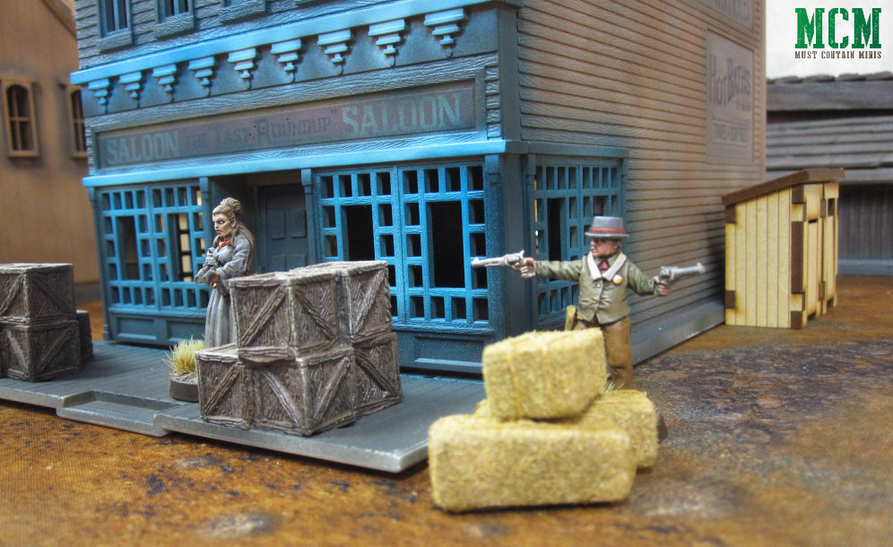 Dracula's America Painted Miniatures - Gunfight in front of the Saloon