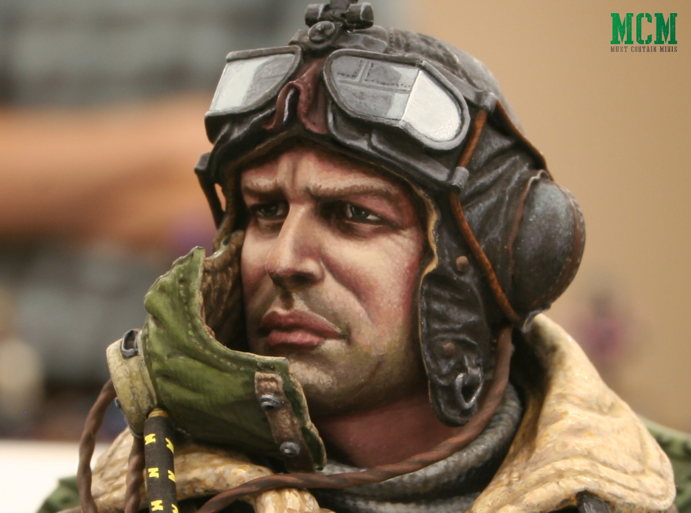 RAF Pilot. 1/10th Bust sized Miniature at a painting competition